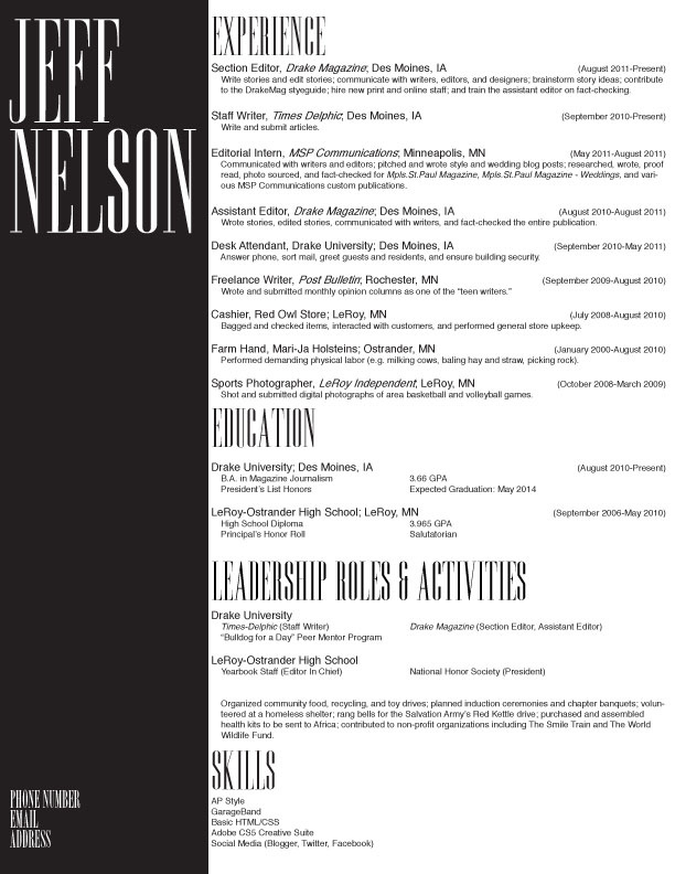 Publishing Internship Resume Sample - How to Write a Perfect